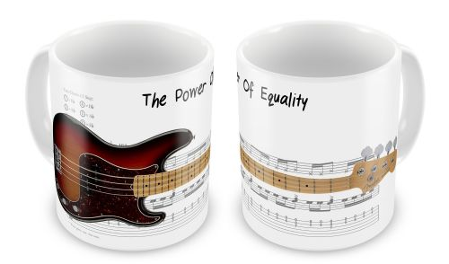 Bass Guitar Sheet Music (The Power Of Equality) Novelty Gift Mug